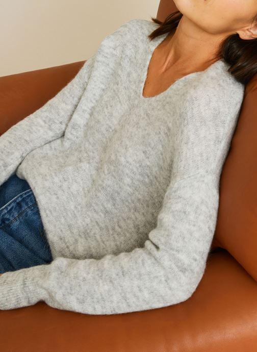Vêtements Accessoires Pull large col V en alpaga