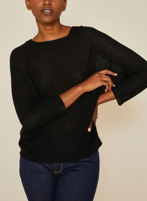 Kleding Monoprix Femme Pull point mousse Zwart detail