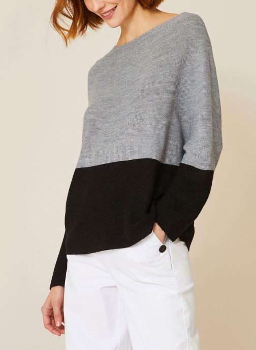Vêtements Monoprix Femme Pull point mousse Noir vue détail/paire