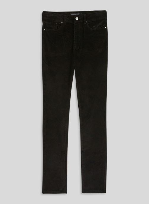 Vêtements Monoprix Femme Pantalon skinny en velours Noir vue face