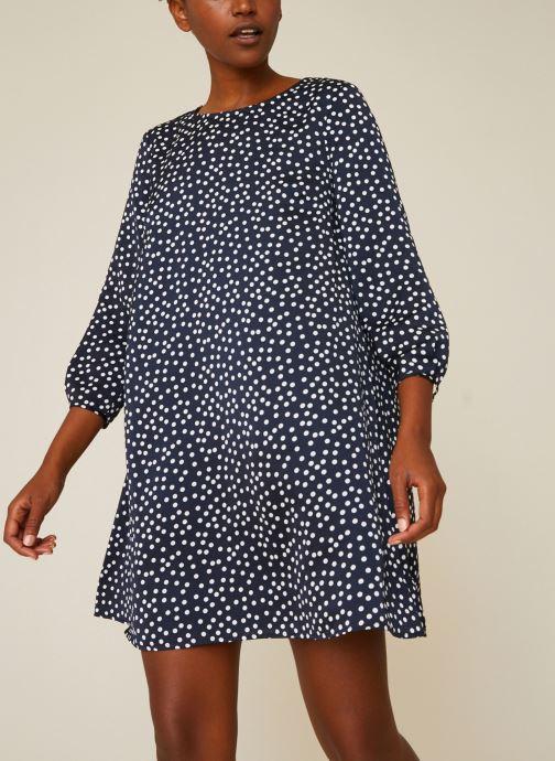 Vêtements Monoprix Femme Robe fluide à pois Bleu vue détail/paire