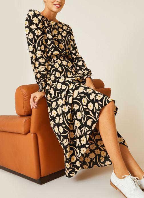 Robe smockée à la taille imprimé floral
