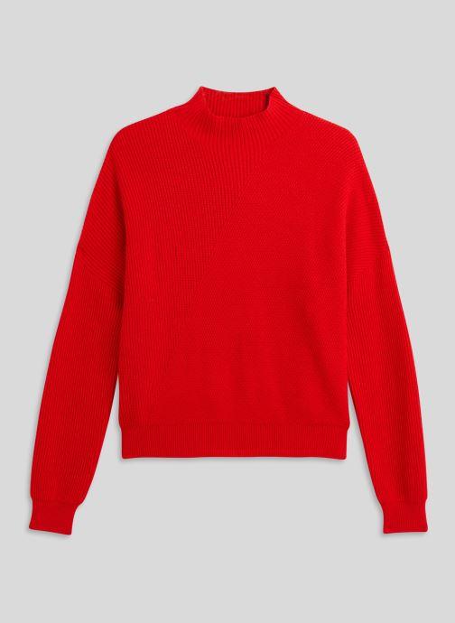 Vêtements Monoprix Femme Pull côtelé col montant Rouge vue face