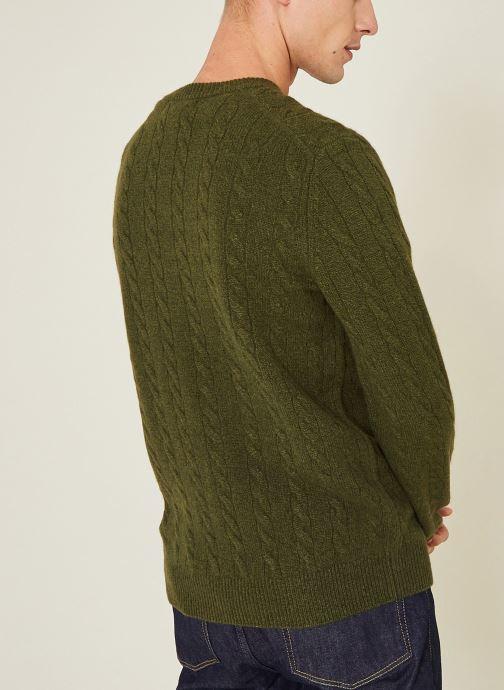 Vêtements Monoprix Homme Pull en laine et cachemire Vert vue portées chaussures