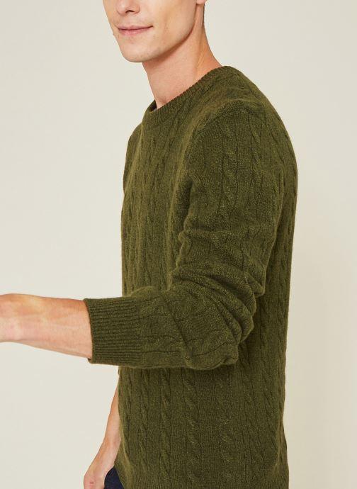 Vêtements Monoprix Homme Pull en laine et cachemire Vert vue détail/paire