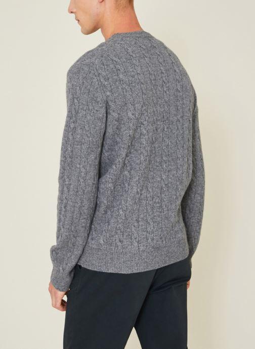 Vêtements Monoprix Homme Pull en laine et cachemire Gris vue portées chaussures