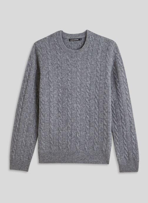 Vêtements Monoprix Homme Pull en laine et cachemire Gris vue face