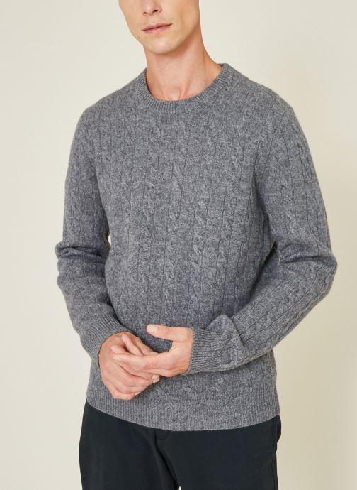 Vêtements Monoprix Homme Pull en laine et cachemire Gris vue détail/paire