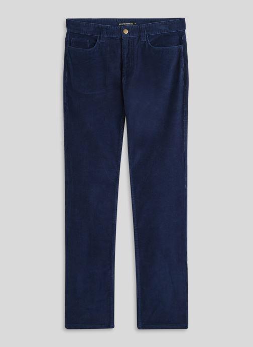 Vêtements Monoprix Homme Pantalon en coton BIO Bleu vue face