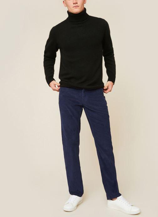 Vêtements Monoprix Homme Pantalon en coton BIO Bleu vue détail/paire