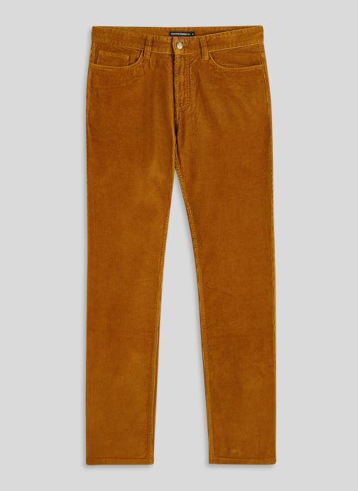 Kleding Monoprix Homme Pantalon en coton BIO Bruin voorkant