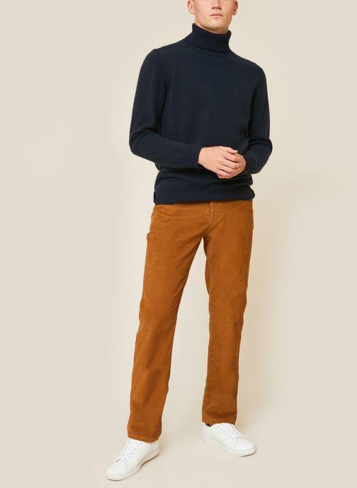 Kleding Monoprix Homme Pantalon en coton BIO Bruin detail