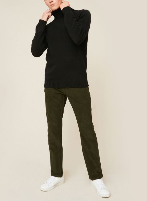 Kleding Monoprix Homme Pantalon en coton BIO Groen detail