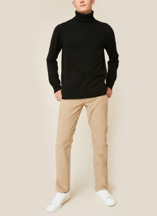 Kleding Monoprix Homme Pantalon en coton BIO Beige detail