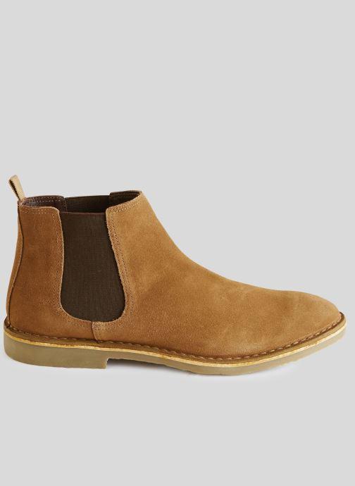 Boots en enkellaarsjes Monoprix Homme Boots en cuir Bruin model