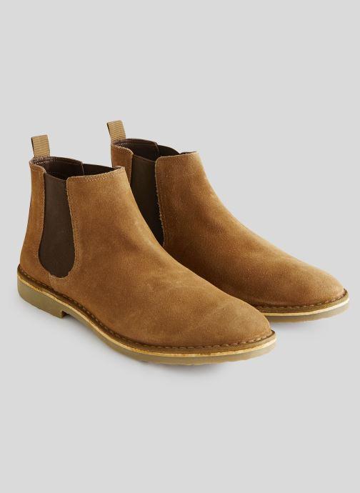 Boots en enkellaarsjes Monoprix Homme Boots en cuir Bruin voorkant