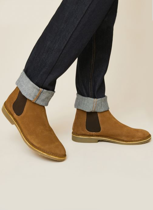 Boots en enkellaarsjes Monoprix Homme Boots en cuir Bruin detail
