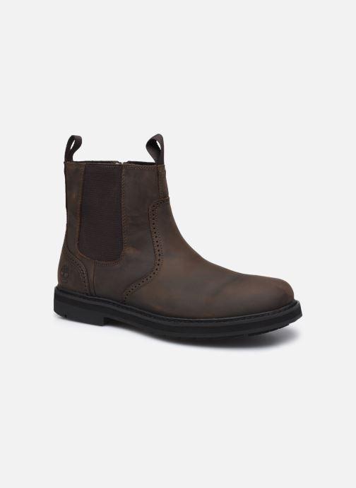 Boots en enkellaarsjes Timberland Squall Canyon PT Brogue WP Chelsea Bruin detail