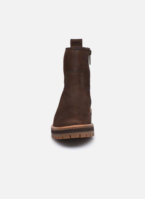 Bottes Timberland Courmayeur Valley FAUX Fur Bootie Marron vue portées chaussures