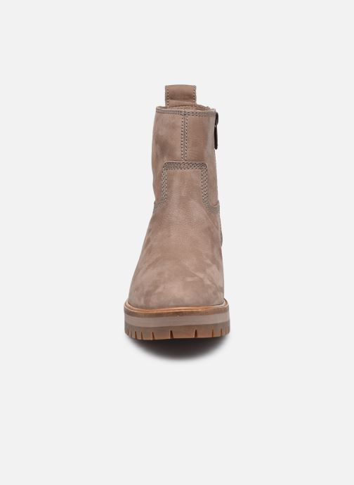 Laarzen Timberland Courmayeur Valley FAUX Fur Bootie Beige model