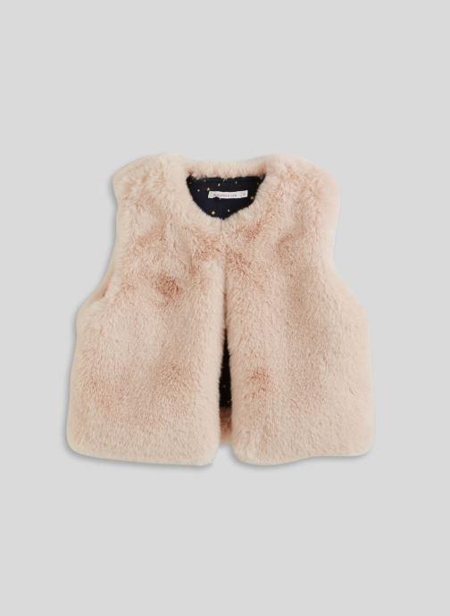 Vêtements Monoprix Kids Gilet sans manches en fausse fourrure Blanc vue détail/paire