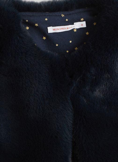 Vêtements Monoprix Kids Gilet sans manches en fausse fourrure Bleu vue face