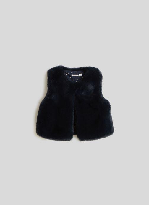 Vêtements Monoprix Kids Gilet sans manches en fausse fourrure Bleu vue détail/paire
