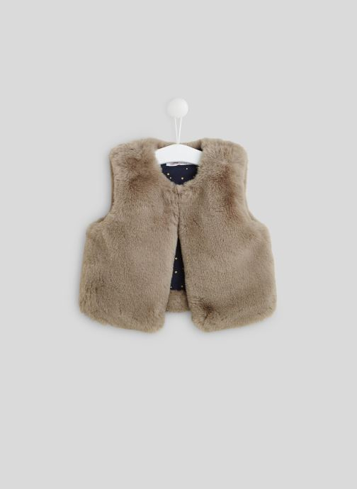 Vêtements Monoprix Kids Gilet sans manches en fausse fourrure Gris vue détail/paire