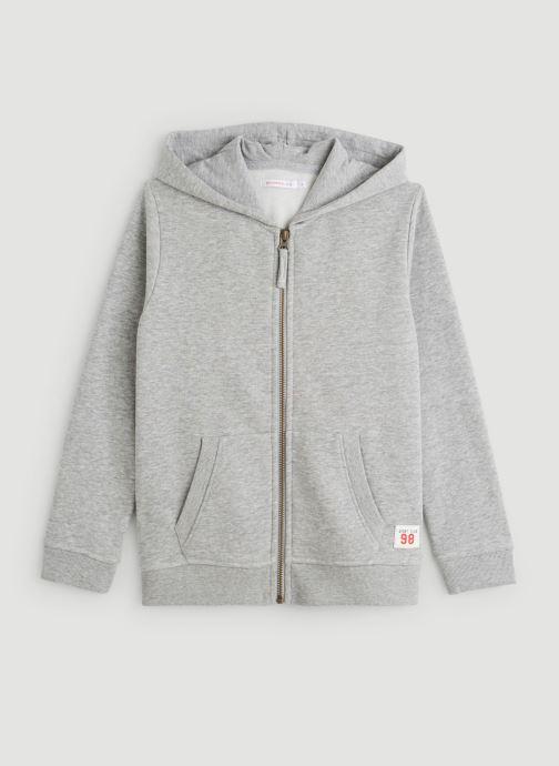 Kleding Monoprix Kids Sweat zippé en coton BIO Grijs detail