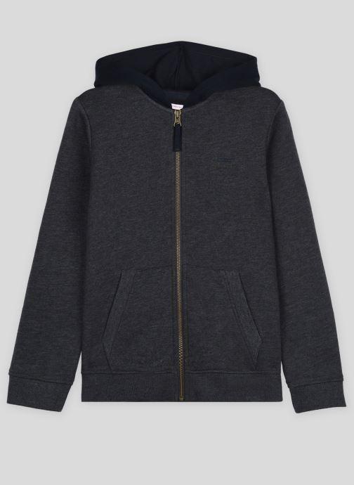 Vêtements Monoprix Kids Sweat zippé en coton BIO Gris vue détail/paire
