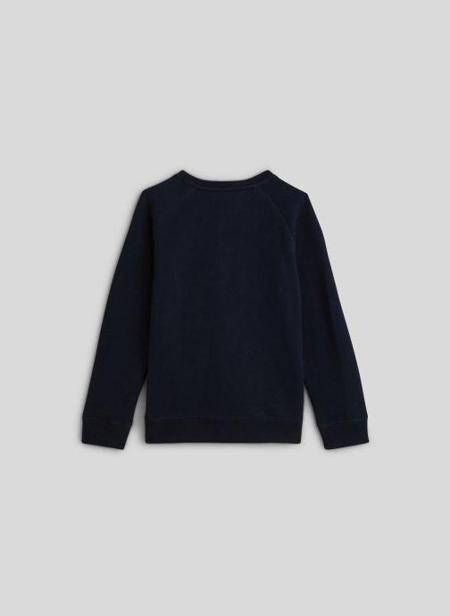 Vêtements Monoprix Kids Sweat brodé en coton BIO Bleu vue portées chaussures