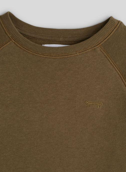 Vêtements Monoprix Kids Sweat brodé en coton BIO Vert vue face