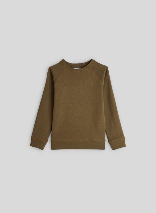 Vêtements Monoprix Kids Sweat brodé en coton BIO Vert vue détail/paire