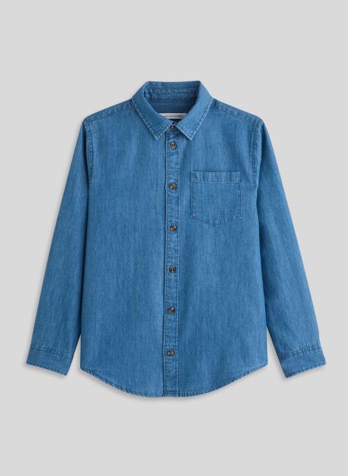 Kleding Monoprix Kids Chemise chambray Blauw detail