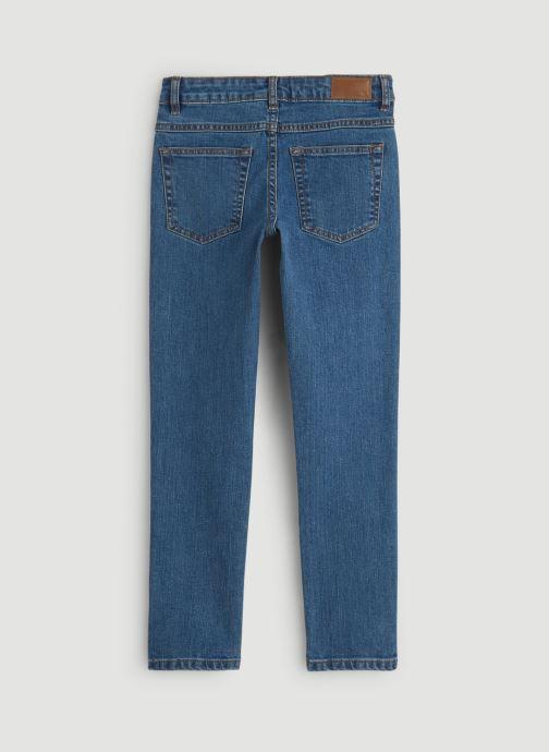 Vêtements Monoprix Kids Jean slim en coton BIO Bleu vue portées chaussures