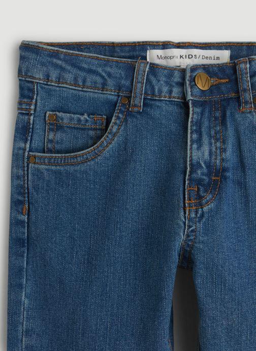 Vêtements Monoprix Kids Jean slim en coton BIO Bleu vue face