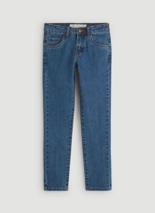 Kleding Monoprix Kids Jean slim en coton BIO Blauw detail