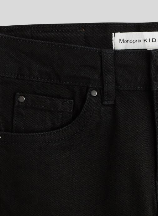 Kleding Monoprix Kids Jean slim en coton BIO Zwart voorkant