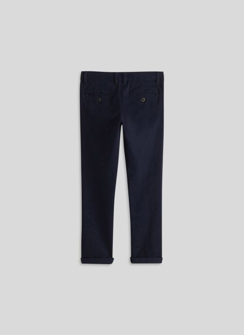 Kleding Monoprix Kids Pantalon slim en coton BIO Blauw model