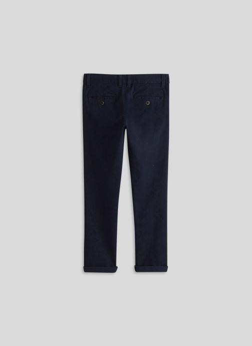 Vêtements Monoprix Kids Pantalon slim en coton BIO Bleu vue portées chaussures