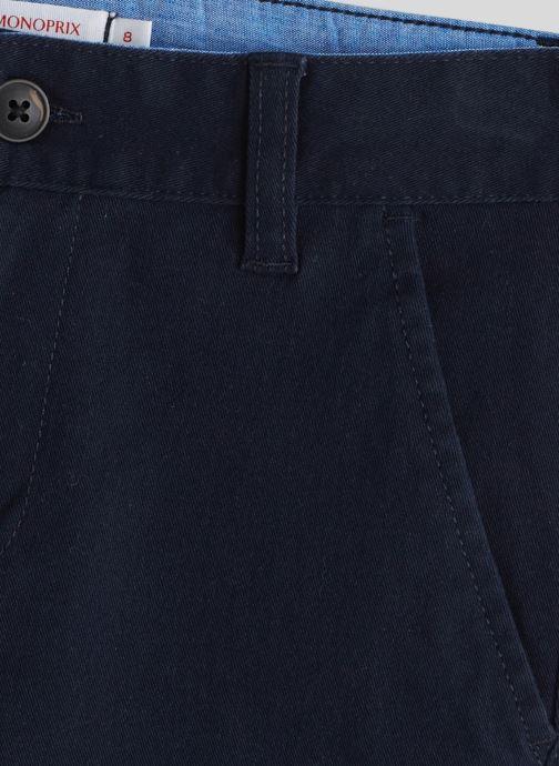 Kleding Monoprix Kids Pantalon slim en coton BIO Blauw voorkant