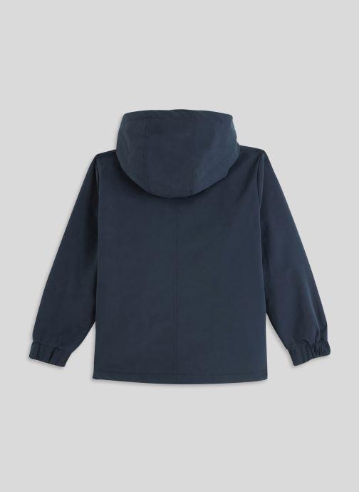 Vêtements Monoprix Kids Parka doublé Bleu vue portées chaussures