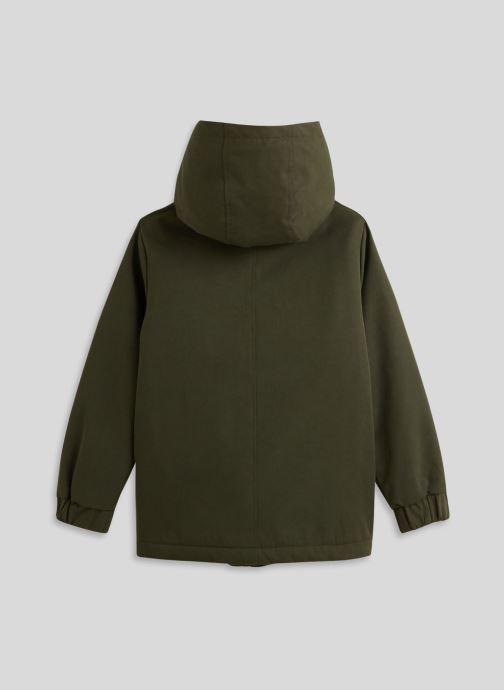 Vêtements Monoprix Kids Parka doublé Vert vue portées chaussures