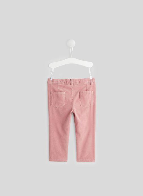 Vêtements Bout'Chou Pantalon en velours Rose vue portées chaussures