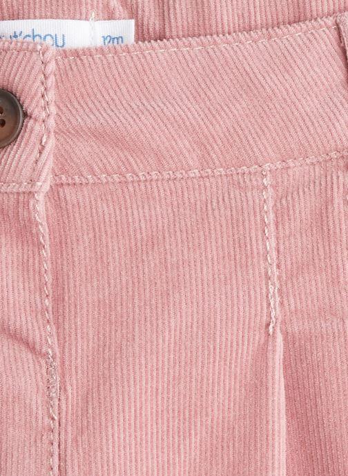 Vêtements Bout'Chou Pantalon en velours Rose vue face