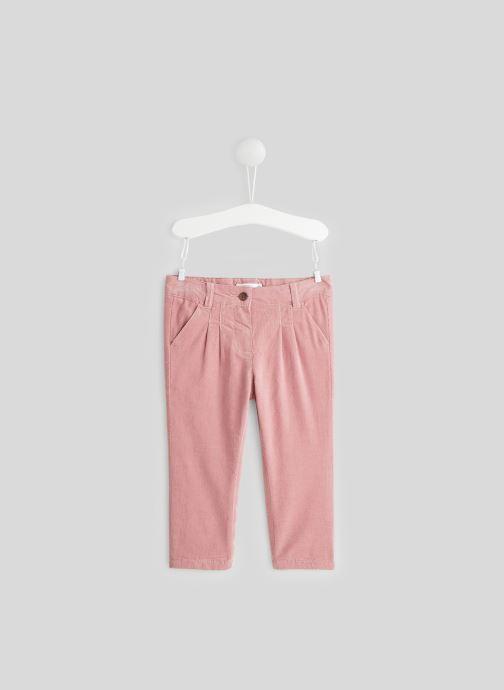 Vêtements Bout'Chou Pantalon en velours Rose vue détail/paire