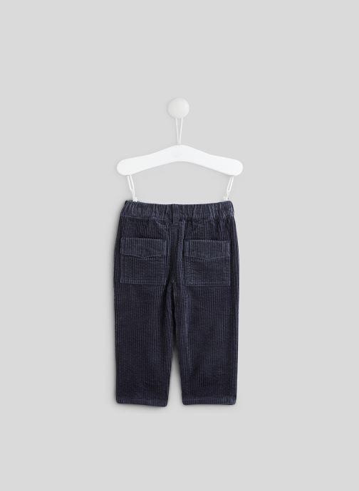 Vêtements Bout'Chou Pantalon en velours Bleu vue portées chaussures