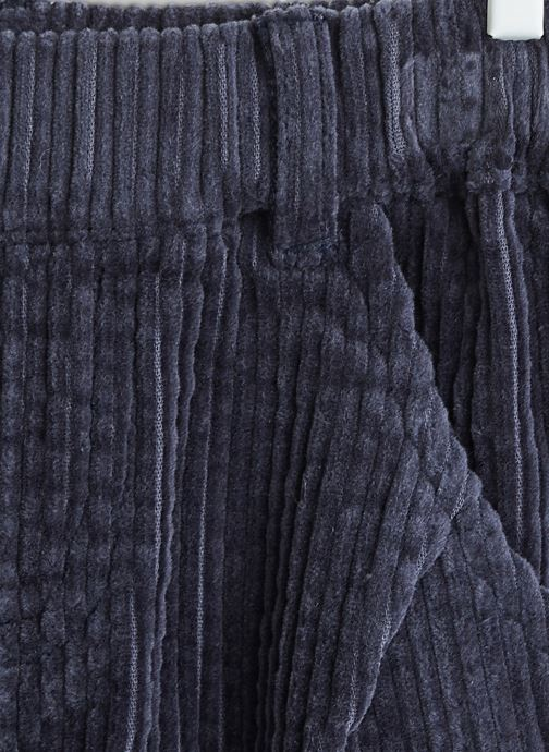 Vêtements Bout'Chou Pantalon en velours Bleu vue face