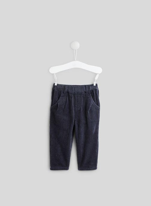 Vêtements Bout'Chou Pantalon en velours Bleu vue détail/paire