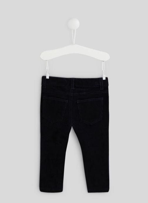 Vêtements Bout'Chou Pantalon en velours - Oeko-Tex Bleu vue portées chaussures